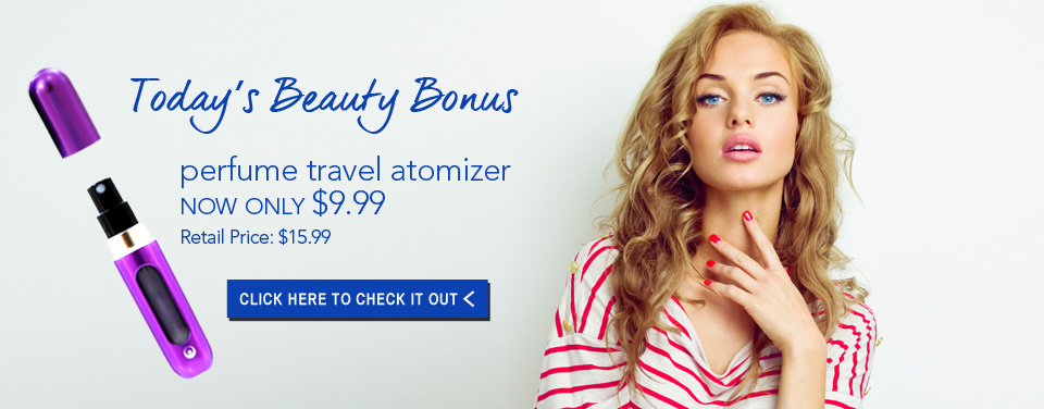 Today's Beauty Bonus: Perfume Travel Atomizer