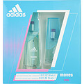 Adidas Moves Eau De Toilette Spray 1 oz & Eau De Toilette Spray .5 oz for women by Adidas