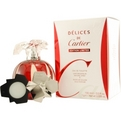 Delices De Cartier Eau De Toilette Spray 3.4 oz & Parfum Solide 0.035 oz Mini (Limited Edition) for women by Cartier