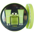 Chloe L'Eau De Chloe Eau De Toilette Spray 3.4 oz & Body Lotion 2.5 oz & Shower Gel 2.5 oz for women by Chloe