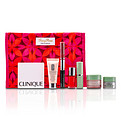 Clinique Travel Set: Moisture Surge + Cc Cream + Eye Cream + Makeup Palette + Mascara & Lipgloss + Lipstick #15 + Nail Polish + Bag --7pcs+1bag for women by Clinique