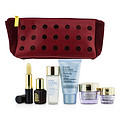 Estee Lauder Travel Set: Perfectly Clean 30ml + Micro Essence 30ml + Advanced Time Zone 15ml + Eye Cream 5ml + Anr Ii 7ml + Lip Conditioner + Bag --6pcs+1bag for women by Estee Lauder