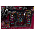 Ed Hardy Hearts & Daggers Eau De Parfum Spray 1.7 oz & Shimmering Body Lotion 3 oz & Shower Gel 3 oz for women by Christian Audigier