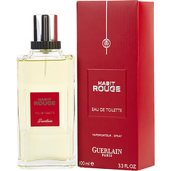 HABIT ROUGE by Guerlain - EDT SPRAY 3.4 OZ