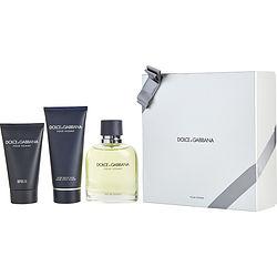 DOLCE & GABBANA by Dolce & Gabbana SET-EDT SPRAY 4.2 OZ & AFTERSHAVE BALM 3.3 OZ & SHOWER GEL 1.6 OZ for MEN