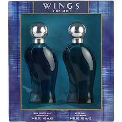WINGS by Giorgio Beverly Hills - EDT SPRAY 3.4 OZ & AFTERSHAVE 3.4 OZ
