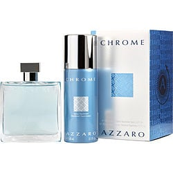 CHROME by Azzaro SET-EDT SPRAY 3.4 OZ & FREE DEODORANT SPRAY 5.1 OZ (TRAVEL OFFER) for MEN