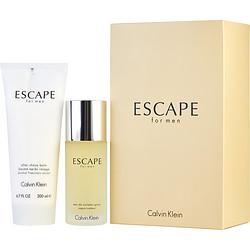 ESCAPE by Calvin Klein SET-EDT SPRAY 3.4 OZ & AFTERSHAVE BALM 6.7 OZ for MEN