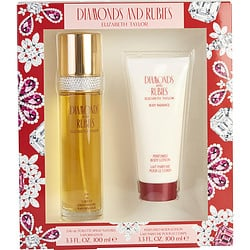 DIAMONDS & RUBIES by Elizabeth Taylor - EDT SPRAY 3.3 OZ & BODY LOTION 3.3 OZ