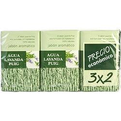 AGUA LAVANDA PUIG by Antonio Puig - SET OF 2 SOAPS PLUS 1 FREE AND EACH IS 4.4 OZ