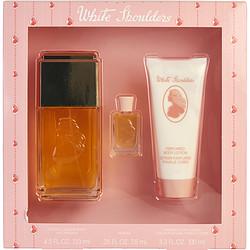 WHITE SHOULDERS by Evyan - EAU DE COLOGNE SPRAY 4.5 OZ & BODY LOTION 3.3 OZ & PARFUM .25 OZ MINI