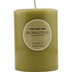 AVOCADO & VANILLA MINT ESSENTIAL BLEND by Avocado & Vanilla Mint Essential Blend - ONE 3x4 inch PILLAR ESSENTIAL BLENDS CANDLE.  BURNS APPROX. 90 HRS.