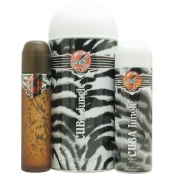 Cuba Jungle Zebra Eau De Parfum Spray 33 Oz Deodorant Spray 67