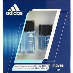 ADIDAS MOVES by Adidas SET-EDT SPRAY 1 OZ & EDT SPRAY .5 OZ for MEN