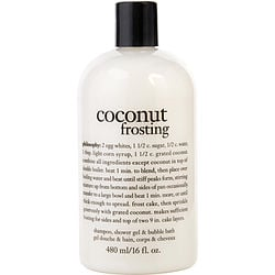 Philosophy by Philosophy Coconut Frosting - Ultra Rich Shampoo, Shower Gel & Bubble Bath--/16OZ for WOMEN $ 19.75