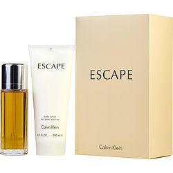 ESCAPE by Calvin Klein SET-EDP SPRAY 3.4 OZ & BODY LOTION 6.7 OZ for WOMEN