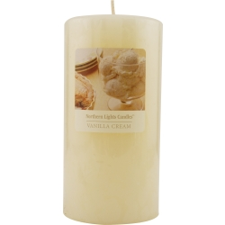 VANILLA CREAM ESSENTIAL BLEND by VANILLA CREAM ESSENTIAL BLEND - ONE 3x6 inch PILLAR ESSENTIAL BLENDS CANDLE.  BURNS APPROX. 120 HRS.
