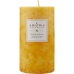RELAXING AROMATHERAPY by Relaxing Aromatherapy - ONE 2.75 X 5 inch PILLAR AROMATHERAPY CANDLE.  COMBINES THE ESSENTIAL OILS OF LAVENDER AND TANGERINE TO CREATE A FRAGRANCE THAT REDUCES STRESS.  BURNS APPROX. 75 HRS