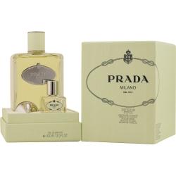 PRADA INFUSION D'IRIS by Prada EAU DE PARFUM 13.5 OZ WITH EMPTY 1 OZ BOTTLE FOR REFILL & FUNNEL for WOMEN