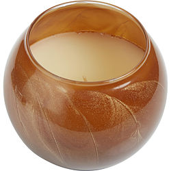 TERRA COTTA CANDLE GLOBE by TERRA COTTA CANDLE GLOBE THE INSIDE OF THIS 4 in POLISHED GLOBE IS PAINTED WITH WAX TO CREATE SWIRLS OF GOLD AND RICH HUES AND COMES IN A SATIN COVERED GIFT BOX. CANDLE IS FILLED WITH A TRANSLUCENT WAX AND SCENTED WITH MYSTERIA. BURNS APPROX. 50 HRS - U for UNISEX