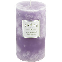 SERENITY AROMATHERAPY by Serenity Aromatherapy - ONE 2.75 X 5 inch PILLAR AROMATHERAPY CANDLE.  COMBINES THE ESSENTIAL OILS OF LAVENDER AND YLANG YLANG TO ENHANCE INNER BALANCE AND WELL-BEING.  BURNS APPROX. 75 HRS.