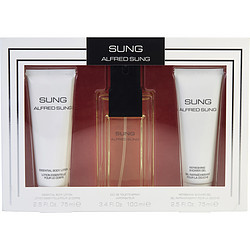 SUNG by Alfred Sung SET-EDT SPRAY 3.4 OZ & BODY LOTION 2.5 OZ & SHOWER GEL 2.5 OZ for WOMEN