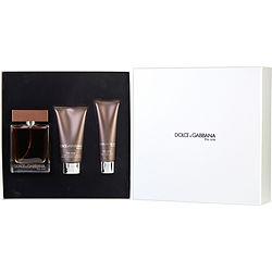 THE ONE by Dolce & Gabbana SET-EDT SPRAY 3.3 OZ & AFTERSHAVE BALM 2.5 OZ & SHOWER GEL 1.6 OZ for MEN