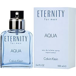 ETERNITY AQUA by Calvin Klein EDT SPRAY 3.4 OZ for MEN