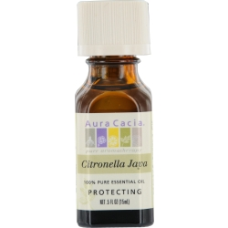 ESSENTIAL OILS AURA CACIA by Aura Cacia CITRONELLA JAVA-ESSENTIAL OIL .5 OZ for UNISEX