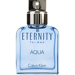 ETERNITY AQUA by Calvin Klein EDT SPRAY 3.4 OZ (UNBOXED) for MEN