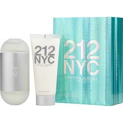 212 by Carolina Herrera SET-EDT SPRAY 3.4 OZ & BODY LOTION 3.4 OZ (TRAVEL OFFER) for WOMEN