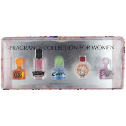 WOMENS VARIETY by Parfums International SET-5 PIECE MINI VARIETY WITH CURVE & CURVE CRUSH & CURVE KICKS & LUCKY YOU & LUCKY NUMBER 6 AND ALL ARE MINIS for WOMEN