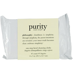 Philosophy by Philosophy Purity Made Simple One-Step Facial Cleansing Cloths --45 towlettes for WOMEN $ 19.50