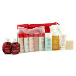 Clarins by Clarins Eau Dynamisante Travel Set: Shower Concentrate+Soap+Shower Gel+Shampoo+Conditioner+Body Lotion+Body Exfoliator+Body Oil+Body Fragrance+Hand Cream+Legs Emulsion+Towel --12pcs+2bags for WOMEN