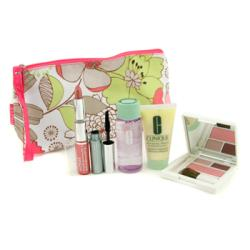 CLINIQUE by Clinique Travel Set: Makeup Remover + D.D.M.L. + Colour Palette + Mascara + Lip Colour + Bag --5pcs+1bag for WOMEN