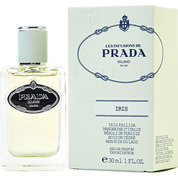 PRADA INFUSION D'IRIS by Prada EAU DE PARFUM SPRAY 1 OZ for WOMEN Launched by the design house of Prada in 2010, PRADA INFUSION D'IRIS by Prada for WOMEN posesses a blend of: Neroli, Mandarin Orange, Orange, African Orange Flower, Galbanum, Mastic or Lentisque, Iris, Benzoin, Incense, Virginia Cedar, Vetiver It is recommended for casual wear.