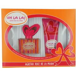 AGATHA RUIZ DE LA PRADA OH LA LA by Agatha Ruiz De La Prada SET-EDT SPRAY 1.7 OZ & BODY LOTION 3.4 OZ for WOMEN