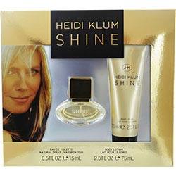 HEIDI KLUM SHINE by Heidi Klum SET-EDT SPRAY .5 OZ & BODY LOTION 2.5 OZ for WOMEN 221469