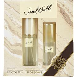 SAND & SABLE by Coty SET-Cologne SPRAY 2 OZ & Cologne SPRAY 1 OZ for WOMEN