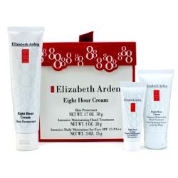 ELIZABETH ARDEN by Elizabeth Arden Eight Hour Cream Set: Skin Protectant + Hand Treatment + Daily Moisturizer --3pcs for WOMEN