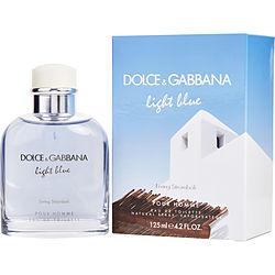 D & G LIGHT BLUE LIVING STROMBOLI POUR HOMME by Dolce & Gabbana EDT SPRAY 4.2 OZ for MEN