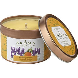 RELAXING AROMATHERAPY by Relaxing Aromatherapy ONE 2.5×1.75 inch TIN SOY AROMATHERAPY CANDLE. COMBINES THE ESSENTIAL OILS OF LAVENDER AND TANGERINE TO CREATE A FRAGRANCE THAT REDUCES STRESS. BURNS APPROX. 15 HRS for UNISEX