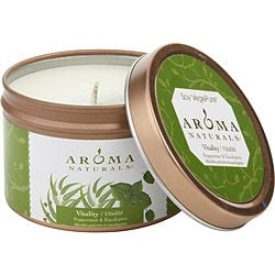 VITALITY AROMATHERAPY by Vitality Aromatherapy ONE 2.5×1.75 inch TIN SOY AROMATHERAPY CANDLE. USES THE ESSENTIAL OILS OF PEPPERMINT & EUCALYPTUS TO CREATE A FRAGRANCE THAT IS STIMULATING AND REVITALIZING. BURNS APPROX. 15 HRS. for UNISEX