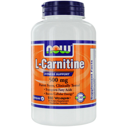 NOW Foods by Now L-Carnitine Fitness Support 500 mg-180 Vcaps for UNISEX