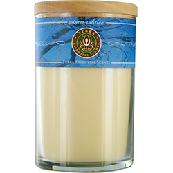 WINTER SOLSTICE by Winter Solstice SOY CANDLE 12 OZ TUMBLER. A BLEND OF SCOTCH PINE, BAYBERRY & FRANKINCENSE WITH LABRGDORITE GEMSTONE. BURNS APPROX. 30+ HOURS for UNISEX