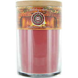 HOLIDAY CHEER by Holiday Cheer SOY CANDLE 12 OZ TUMBLER. A FESTIVE BLEND OF SPRUCE, CLOVE, ORANGE & PEPPERMINT. BURNS APPROX. 30+ HOURS for UNISEX