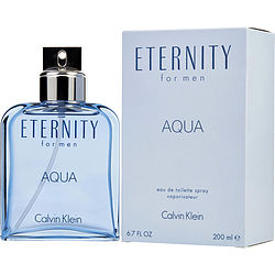 ETERNITY AQUA by Calvin Klein EDT SPRAY 6.7 OZ for MEN