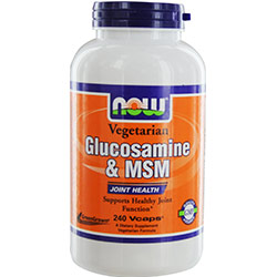 NOW Foods by Now Vegetarian Glucosamine & MSM Joint Health 240 Vcaps for UNISEX