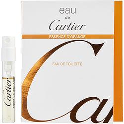 EAU DE CARTIER ESSENCE D'ORANGE by Cartier EDT SPRAY VIAL ON CARD for UNISEX