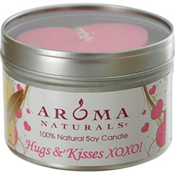 HOPE AROMATHERAPY by Hope Aromatherapy ONE 6.5 inch TIN SOY AROMATHERAPY CANDLE WITH PINK HEART.  COMBINES THE ESSENTIAL OILS OF VANILLA & ROSE.  BURNS APPROX. 40 HRS. for UNISEX
